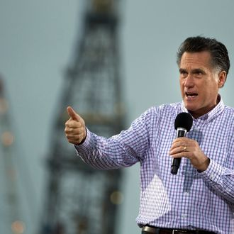 Republican presidential candidate, former Massachusetts Gov. Mitt Romney speaks during a campaign stop at the Port of Pascagoula on Thursday, March 8, 2012 in Pascagoula, Miss.