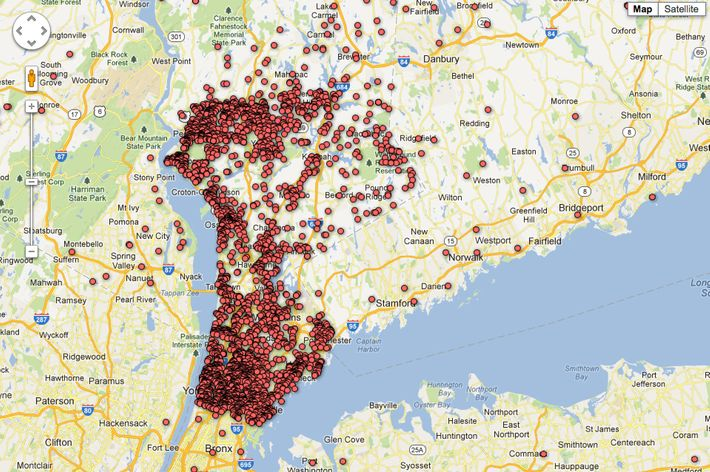 Newspapers Map of GunPermit Holders Not Doing the GunControl