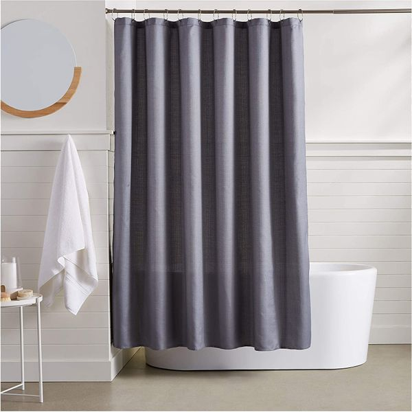 AmazonBasics Linen Style Shower Curtain