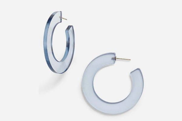 Sterling Forever Acrylic Hoop Earrings