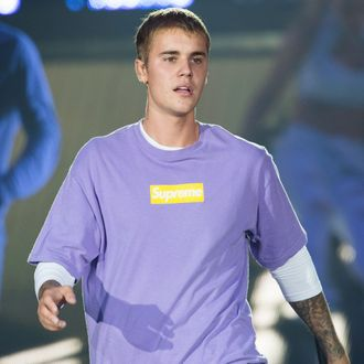 Justin Bieber Performs At AccorHotels Arena POPB Bercy