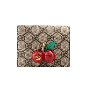 GG Supreme Card Case With Cherries