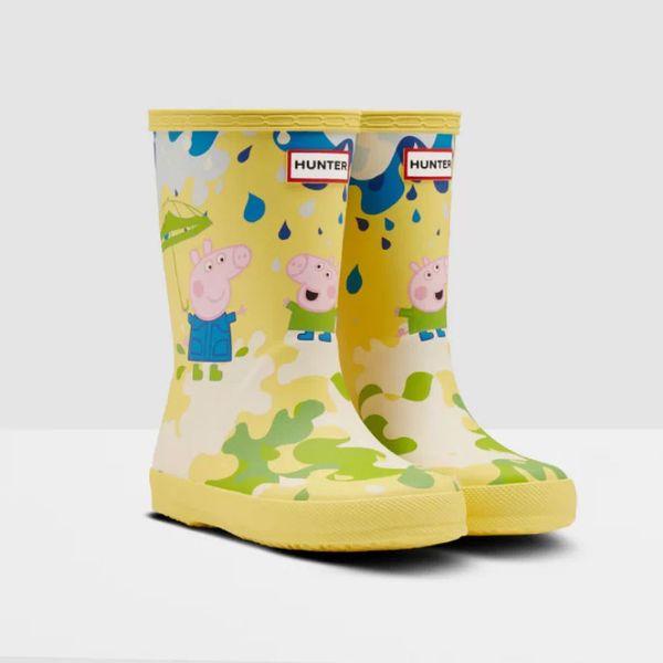 Hunter Kids First Peppa Pig Muddy Puddles Rain Boots: Yarrow Yellow