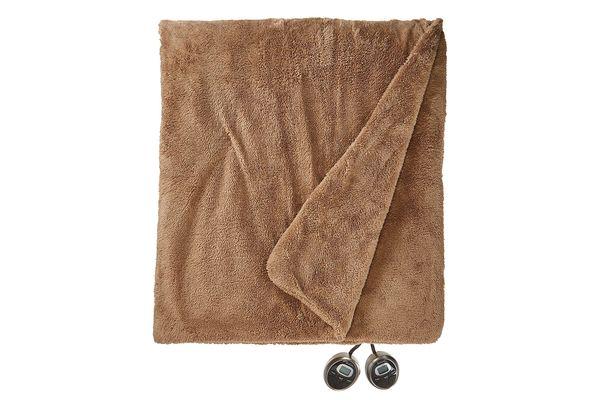 Sunbeam SlumberRest LoftTech Heated Blanket With ComfortSet Controller, Full, Mushroom