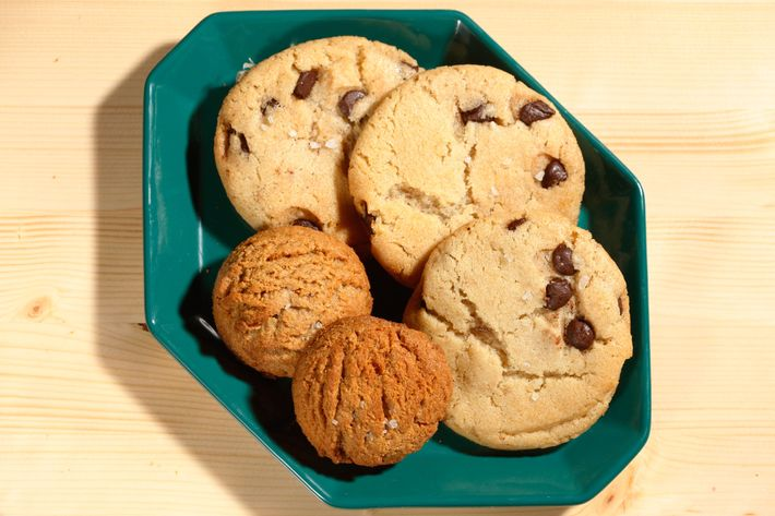 Ovenly's salted chocolate-chip and peanut-butter cookies.