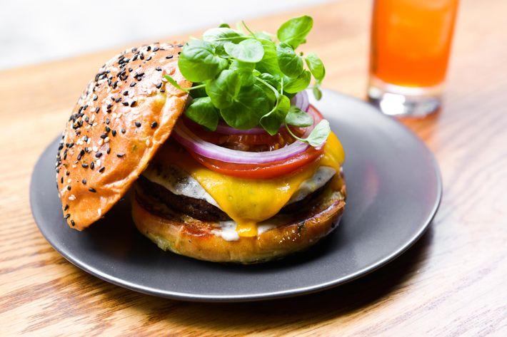 Wassail's veggie burger.