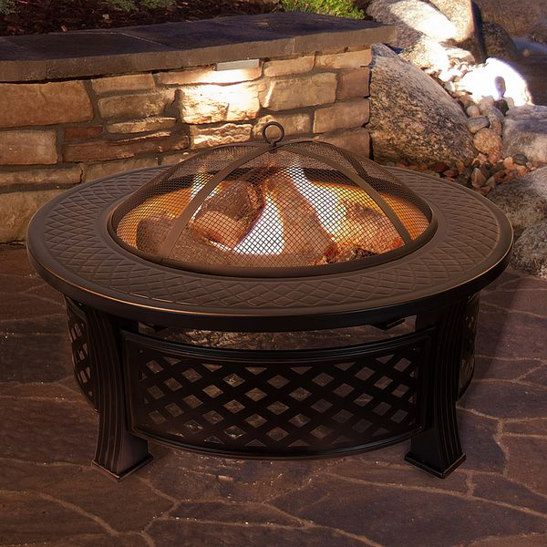 Pure Garden Fire Pit Set and Wood Burning Pit