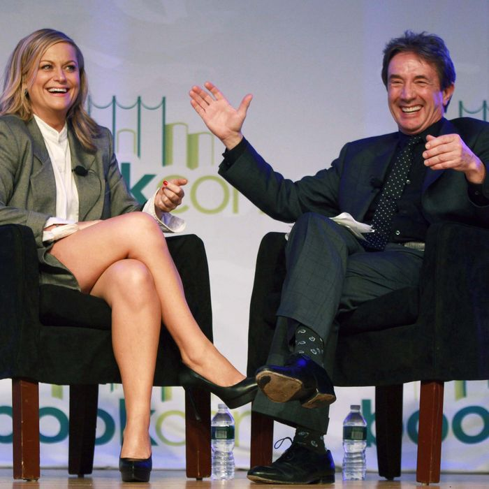 Amy Poehler and Martin Short attend day 3 of the 2014 Bookexpo America at The Jacob K. Javits Convention Center on May 31, 2014 in New York City.