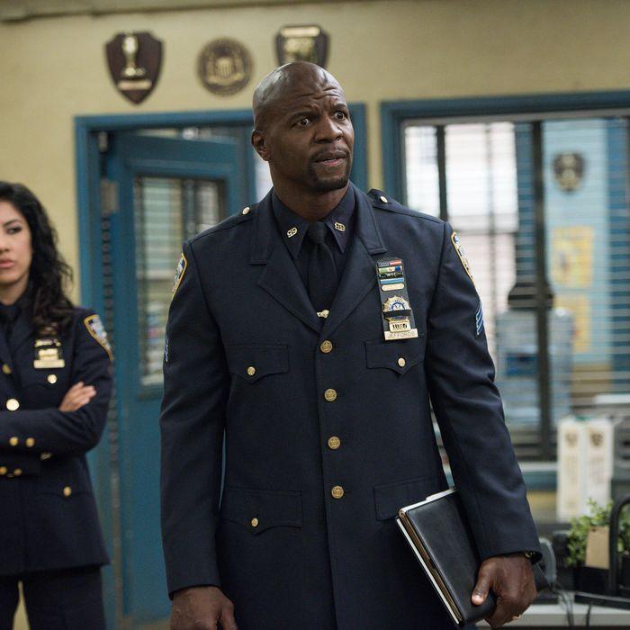 BROOKLYN NINE-NINE: (L-R) Rosa (Stephanie Beatriz), Sgt. Jeffords (Terry Crews) in the