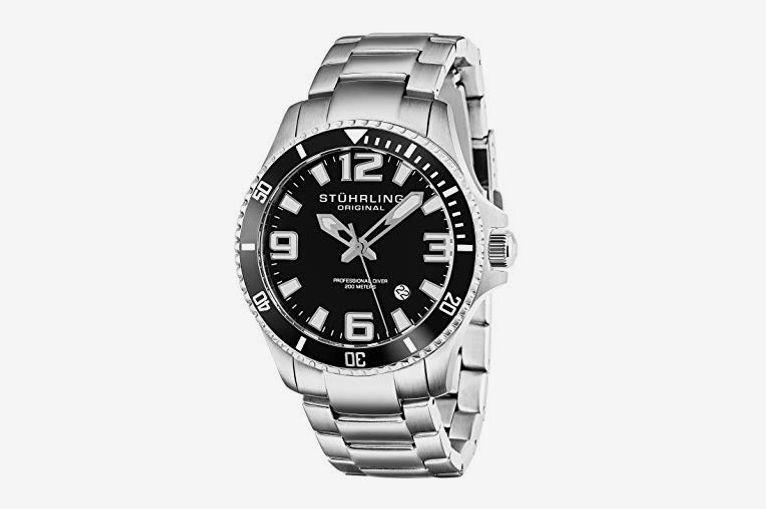 a08524d63d4 Stuhrling Original Men s Swiss Quartz Stainless Steel Dive Watch