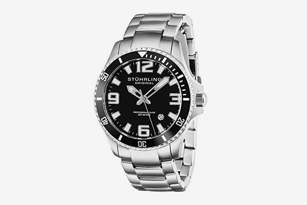 Stuhrling Original Men's Swiss Quartz Stainless Steel Dive Watch