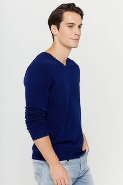 State Cashmere Men's V-Neck Cashmere Sweater