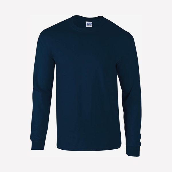 Gildan Ultra Cotton Long Sleeve T-Shirt, Navy