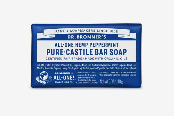 Dr. Bronner's Pure-Castile Bar Soap Peppermint