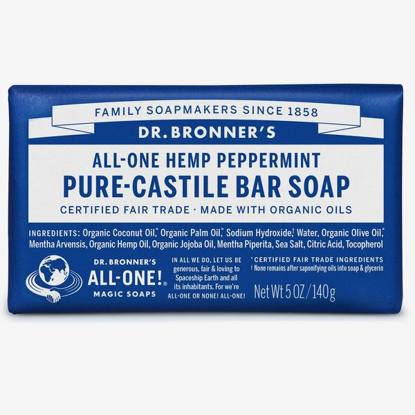 Dr. Bronner's Pure-Castile Bar Soap Peppermint