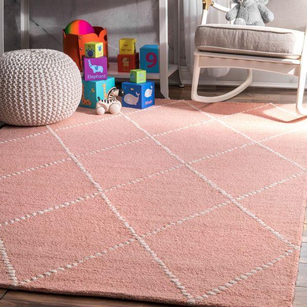 nuLOOM Dotted Diamond Trellis Wool Rug, 4' x 6'