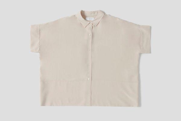 The Silk Short Sleeve Square Shirt