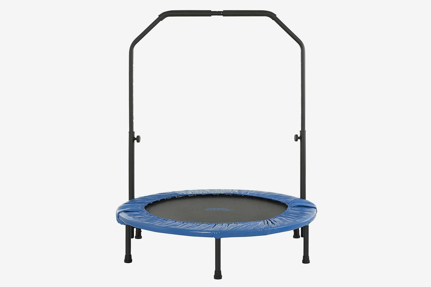 Upper Bounce Mini Foldable Rebounder Fitness Trampoline With Adjustable Handrail
