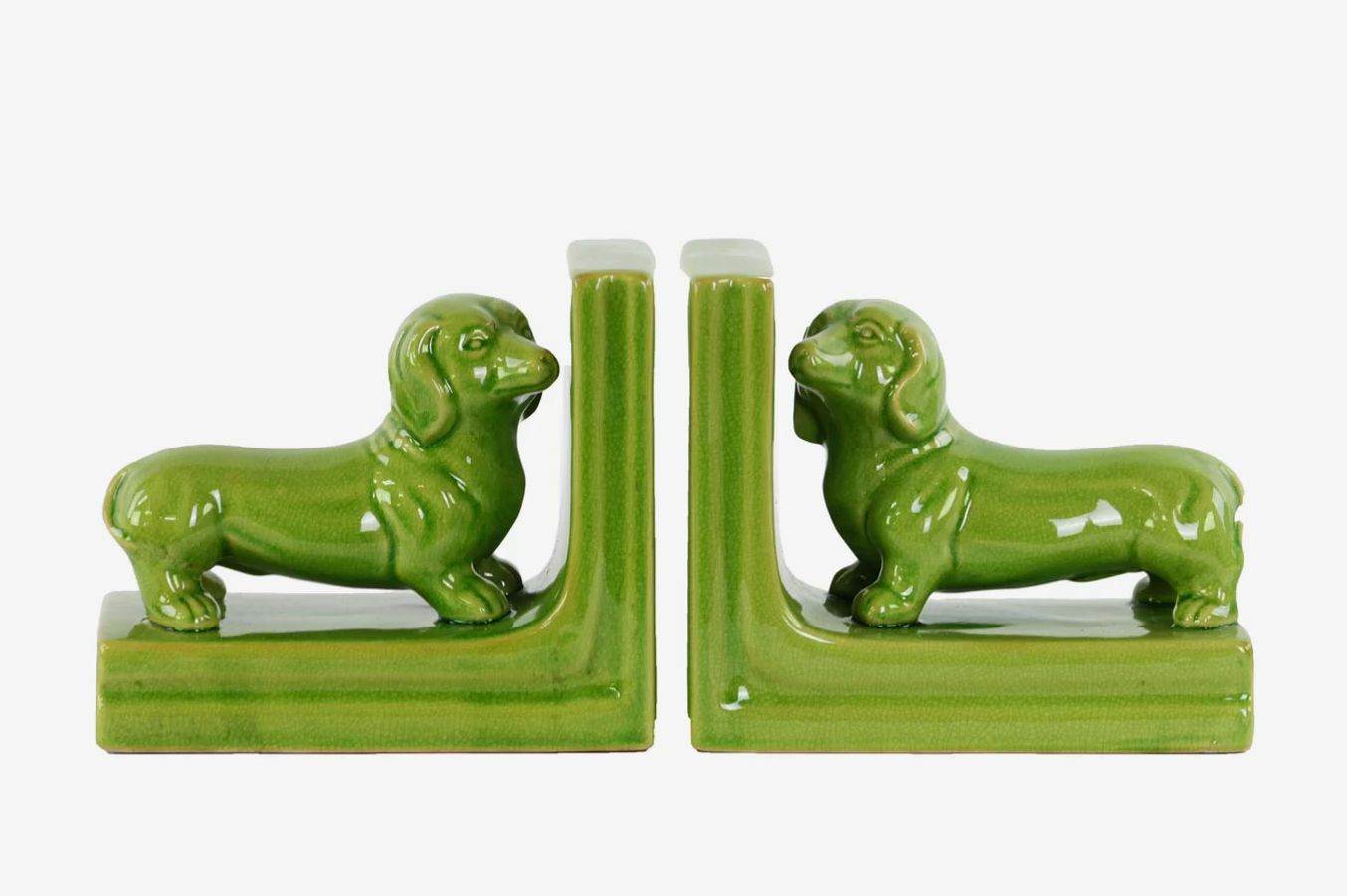 Ceramic Dachshund Dog Bookends