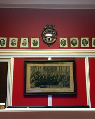 WASHINGTON, DC - JANUARY 30: Photos of Rep. Aaron Schock's (R-IL) new office in the Rayburn Office Building, which was designed to resemble the dining room of the PBS show