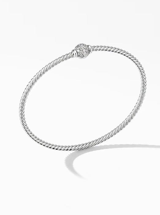 Solari Center Station Bracelet in 18K White Gold with Diamonds