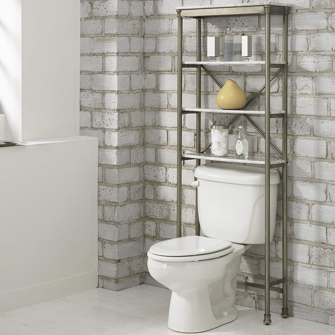 5 Best Over The Toilet Storage Ideas On, Bathroom Organizer Over Toilet