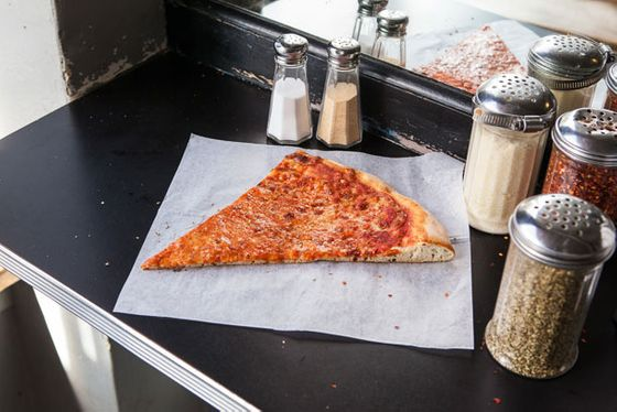 "<b>New York–Style Slice</b>    <a href=""http://sanfrancisco.menupages.com/restaurants/arinell-pizza/"">Arinell Pizza</a>    <i>San Francisco</i>  Arinell's slices are elegant, no-frills, and covered with an even layer of hot cheese. The crust is thin and puffed at the edges, slices fold neatly, there's the slight sheen of grease, and the uniform touch of char underneath gives it a good chew. Tastes even better reheated."