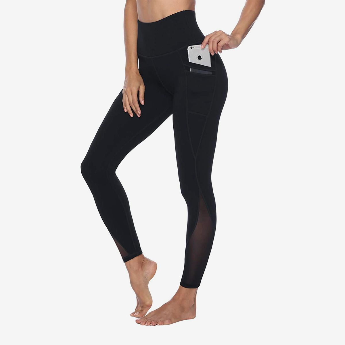 Gift Outside Pocket Women Cardio Yoga workout Compression Capris Pants
