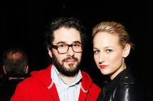 Designer Adam Kimmel (L) and actress Leelee Sobieski attend the 2012 TFF Awards during the 2012 Tribeca Film Festival at the Conrad Hotel on April 26, 2012 in New York City.