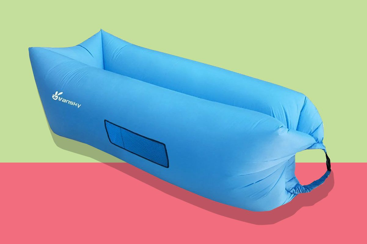 vansky outdoor inflatable lounger the best inflatable air hammock just went on sale  rh   nymag