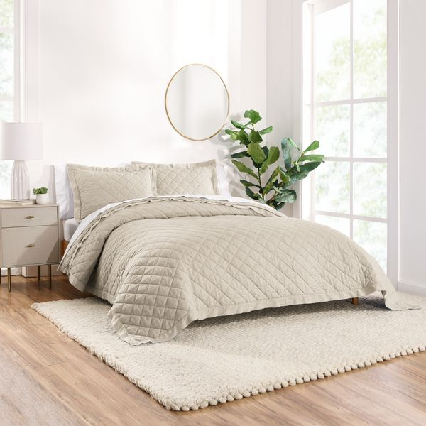 Gap Home Washed Frayed-Edge Organic-Cotton Quilt