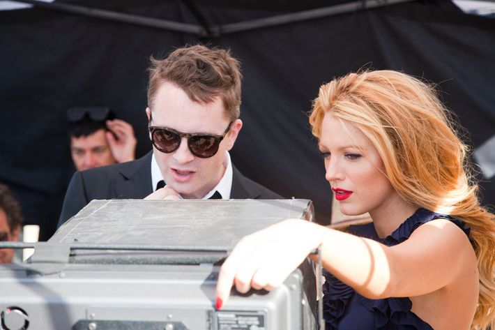 Blake Lively with <em>Drive</em> director Nicolas Winding Refn.