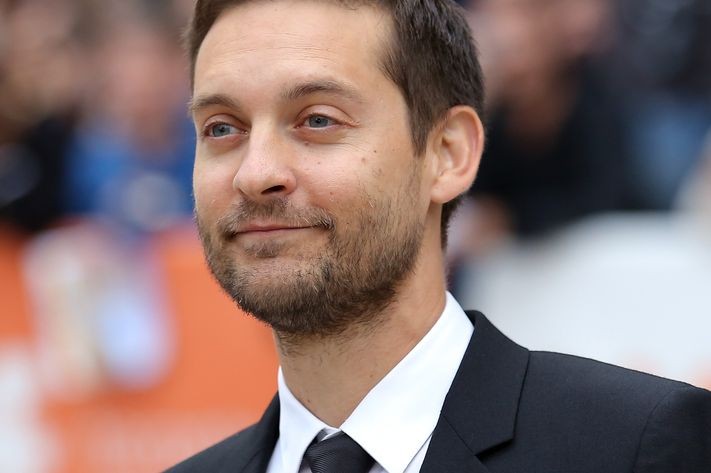 """TORONTO, ON - SEPTEMBER 11:  Actor/producer Tobey Maguire attends the """"Pawn Sacrifice"""" premiere during the 2014 Toronto International Film Festival at Roy Thomson Hall on September 11, 2014 in Toronto, Canada.  (Photo by Jemal Countess/Getty Images)"""
