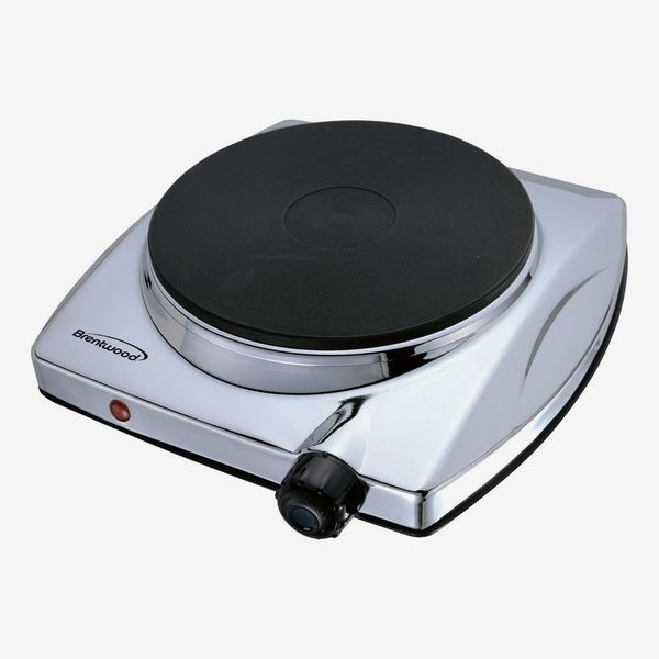 Brentwood Electric 1000W Single Hotplate in Chrome Finish