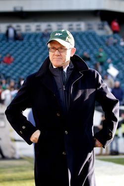 New York Jets owner Woody Johnson looks on before the start of the Jets game against the Philadelphia Eagles at Lincoln Financial Field on December 18, 2011 in Philadelphia, Pennsylvania.