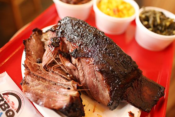 "<a href=""http://nymag.com/listings/restaurant/daisy-mays-bbq-usa/"">Daisy May's BBQ USA</a><br><i>623 Eleventh Ave.; 212-977-1500</i> <br>The place is so far west that it might as well be in New Jersey, but the whole-hog feasts at Adam Perry Lang's are the stuff of legend — and definitely worth grabbing a crosstown cab. You can also get the ribs, the pulled pork, or the multitude of sides to go, but doing so sort of misses the point: order the hog, grab some friends, and get ready.<br><br>"