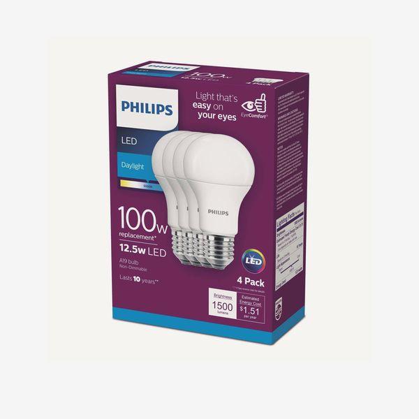Philips Medium LED 100-Watt Daylight Bulb, Pack of 4