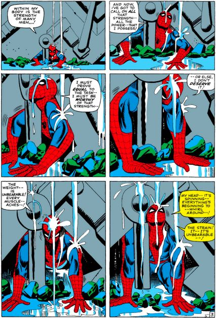 Image result for cool comic books moral values spider-man