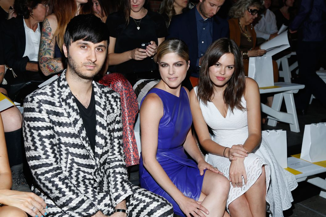 NEW YORK, NY - SEPTEMBER 07:   Brad Walsh (L) Selma Blair (C) and Amanda de Cadenetatt (R) attend the Christian Siriano fashion show during Mercedes-Benz Fashion Week Spring 2014 at Eyebeam on September 7, 2013 in New York City.  (Photo by Cindy Ord/Getty Images)