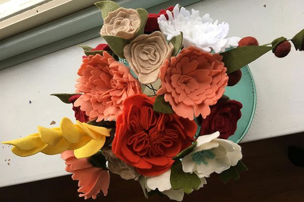 Handmade Multi-Color Felt Flower Bouquet