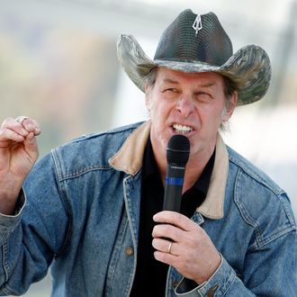 Musician Ted Nugent speaks Republican John Raese speaks supporters during a rally for his U.S. Senate campaign October 30, 2010 in Charleston, West Virginia. Raese and West Virginia Gov. Joe Manchin, a Democrat, are embroiled in a hotly-contested race for the seat vacated following the death of Robert C. Byrd.