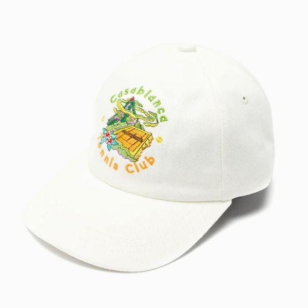 Casablanca Tennis Club Embroidered Cotton Cap