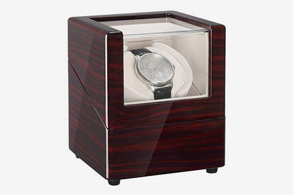 CHIYODA Single Wooden Watch Winder with Quiet Motor
