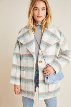 Anthropologie Elsa Plaid Coat