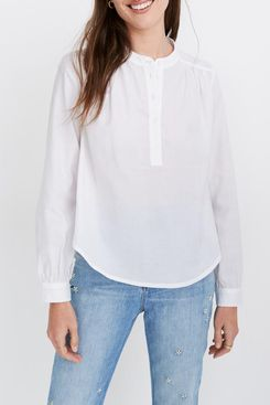 Madewell Shirred Popover Top