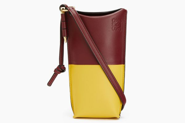 Gate Pocket Bag in Wine/Yellow