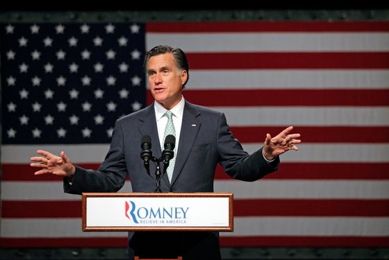 LANSING, MI - MAY 8:  Republican presidential candidate, former Massachusetts Gov. Mitt Romney speaks during a campaign stop at Lansing Community College May 8, 2012 in Lansing, Michigan. Last night former U.S. Sen. Rick Santorum gave his endorsement to Gov. Romney in an e-mail sent to supporters.  (Photo by Bill Pugliano/Getty Images)