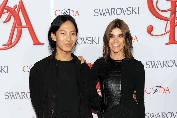 Alexander Wang and Carine Roitfeld, peas in a pod.