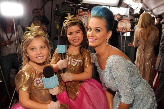 Rosie, Sophia Grace and Katy Perry arrive at The 54th Annual GRAMMY Awards at Staples Center on February 12, 2012 in Los Angeles, California.