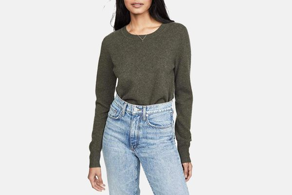 Naadam Women's Cropped Crew Cashmere Sweater